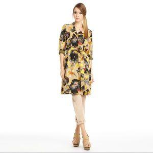 Rachel Roy Ladies 4 Floral Tie Waist Trench Coat